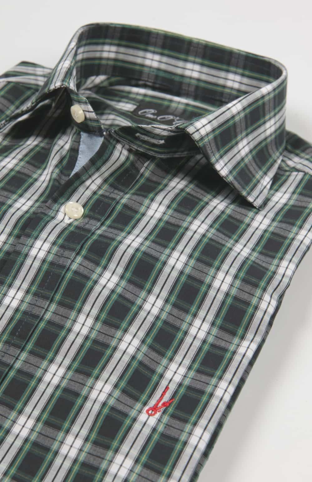 camisa cuadro verde