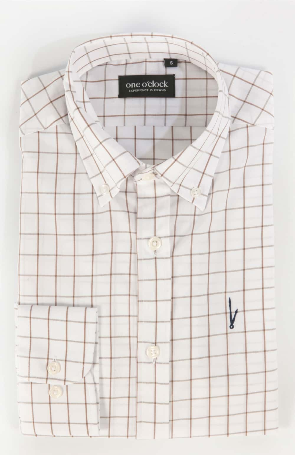 CAMISA WINDOWPANE MARRÓN