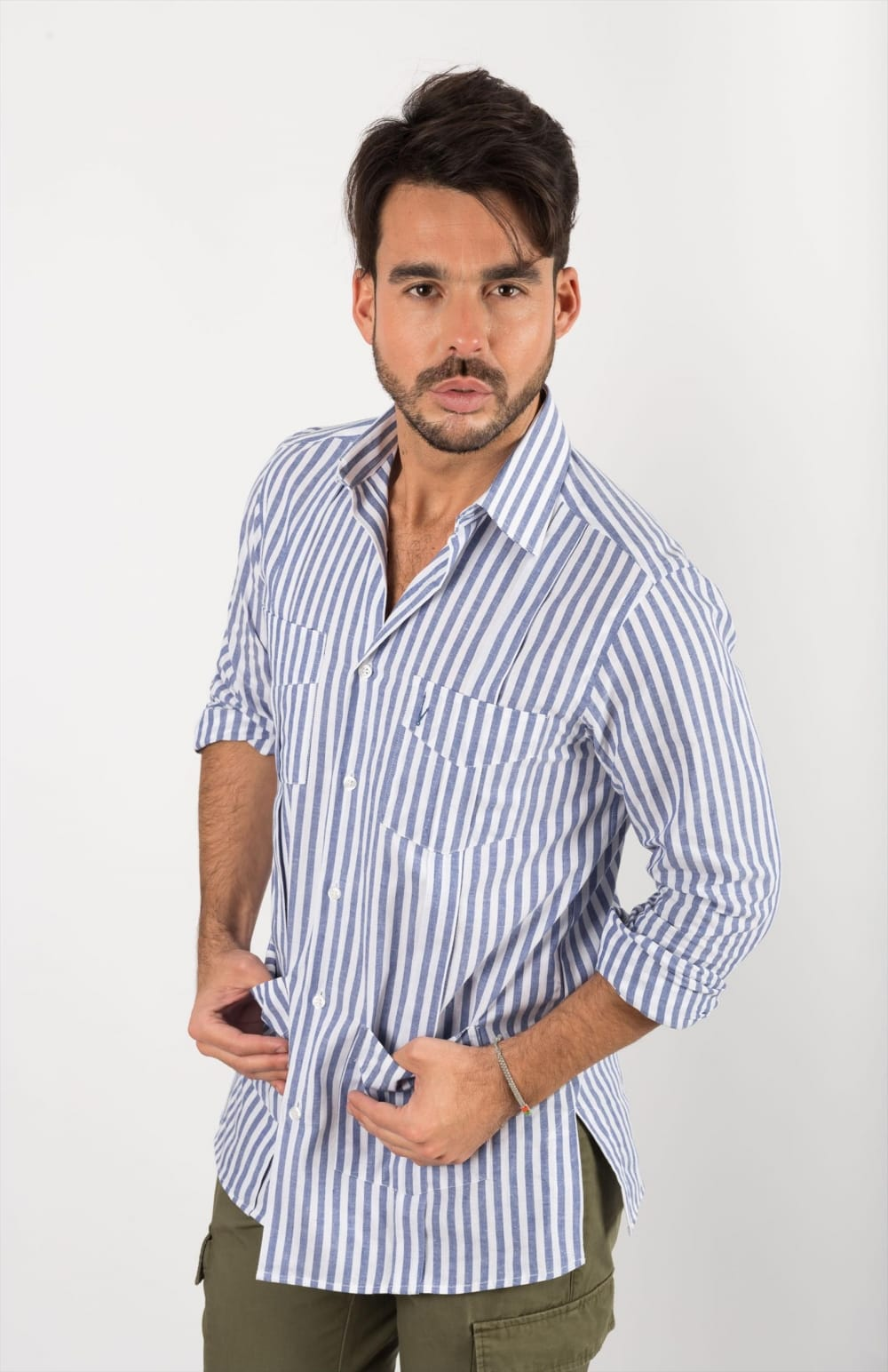 GUAYABERAS RAYAS AZULES